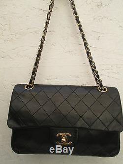 AUTH sac à main sac Chanel Timeless VINTAGE (petit modèle) cuir (T)BEG bag