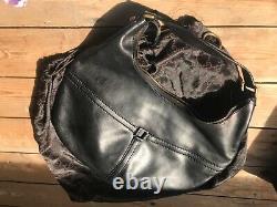 -AUTHENTIQUE ET RARE sac à main Cuir noir