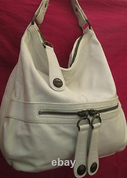 -AUTHENTIQUE grand sac à main GERARD DAREL blanc cuir TBEG vintage bag