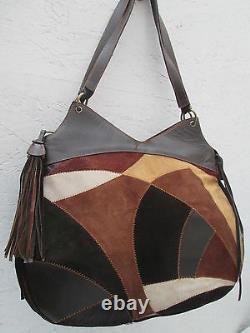 -AUTHENTIQUE grand sac à main MISSONI cuir TBEG vintage bag A4
