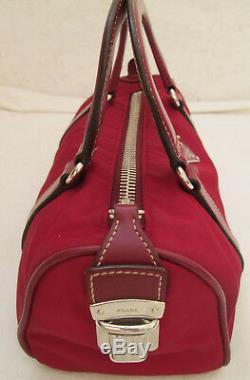-AUTHENTIQUE petit sac à main PRADA toile/cuir TBEG vintage bag