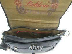 -AUTHENTIQUE sac à main BOLDRINI cuir TBEG vintage bag