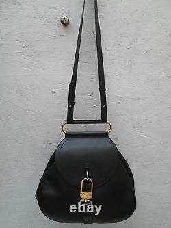 -AUTHENTIQUE sac à main DELVAUX Bruxelles Belgium cuir TBEG vintage