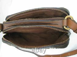 -AUTHENTIQUE sac à main DELVAUX Bruxelles cuir tressé TBEG vintage
