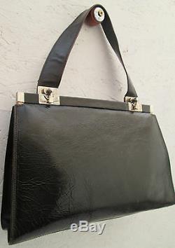 -AUTHENTIQUE sac à main DOLCE & GABBANA cuir TBEG vintage bag 70's