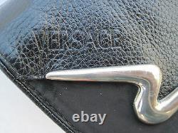 -AUTHENTIQUE sac à main GIANNI VERSACE cuir TBEG bag vintage