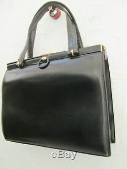 -AUTHENTIQUE sac à main GOLD / PFEIL cuir TBEG vintage bag 60's