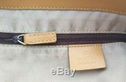 AUTHENTIQUE sac à main GUCCI cuir et toile style cabas bag