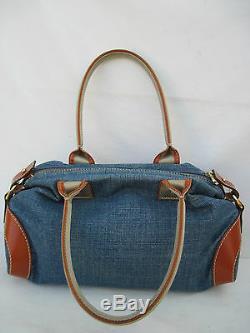 -AUTHENTIQUE sac à main LANCEL Toile et cuir TBEG vintage bag