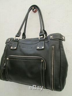 -AUTHENTIQUE sac à main LONGCHAMP cuir TBEG vintage bag 27 x 35 cm