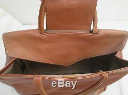 -AUTHENTIQUE sac à main LONGCHAMP cuir TBEG vintage bag 27 x 35 cm, 60's