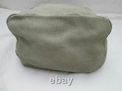 -AUTHENTIQUE sac à main PRADA daim suédé vintage (T)BEG bag