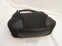 AUTHENTIQUE sac à main PRADA en toile et cuir TBEG vintage bag
