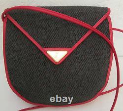 -AUTHENTIQUE sac à main YVES SAINT LAURENT toile & cuir (T)BEG vintage bag
