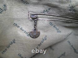 -AUTHENTIQUE sac à main pochette THE BRIDGE cuir TBEG vintage bag A4