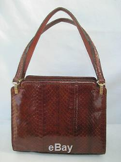 -AUTHENTIQUE sac à main reptile BEG bag vintage