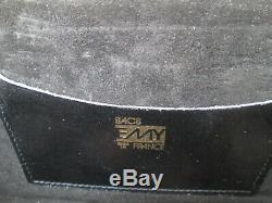 -AUTHENTIQUE sac à main soirée EMY cuir croco TBEG vintage bag 70's