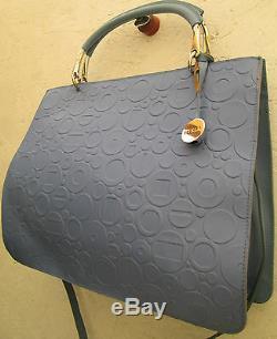 -AUTHENTIQUE sac à main type malette FURLA cuir TBEG bag A4