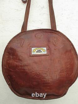 -AUTHENTIQUE sac à main vintage THE BRIDGE cuir TBEG bag