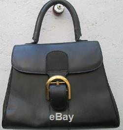 -AUTHENTIQUE sac à main DELVAUX cuir (T)BEG vintage bag