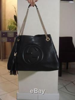 2473f432876 Authentique Et Sublime Sac A Main Porte Epaule Gucci Modele Soho M Comme  Neuf