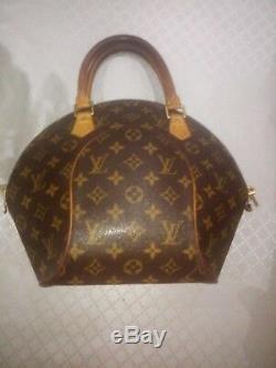 Authentique Louis Vuitton Sac à Main Ellipse Pm marron