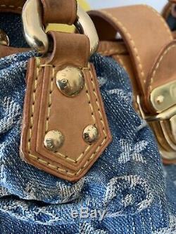 Authentique Sac Pleaty Denim Mini Vuitton