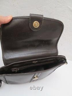 Authentique petit sac à main CELINE Paris cuir vintage bag
