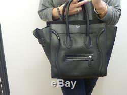 Authentique sac CELINE luggage noir en cuir grainé
