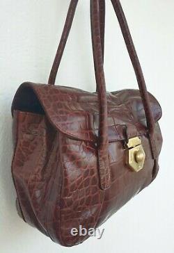 Authentique sac à main FURLA cuir croco
