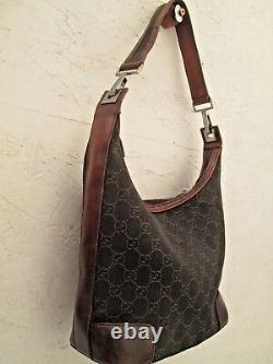 Authentique sac à main GUCCI cuir et toile vintage bag