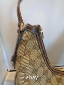 Authentique sac à main GUCCI cuir et toile vintage bag /