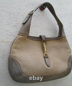 Authentique sac à main GUCCI en tissu et cuir vintage bag