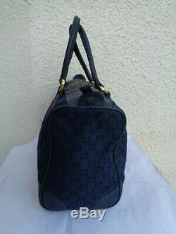 Authentique sac à main Gucci en cuir & toile TBEG & vintage Bag A(4)