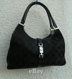 Authentique sac à main Gucci en cuir & toile(réf001013) BEG & vintage Bag
