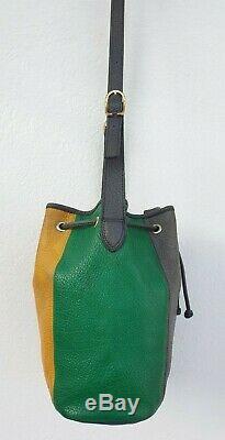 Authentique sac à main type seau LONGCHAMP en cuir