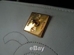 Authentique sac chanel mini ancien vintage cuir de veau collector pochette1987