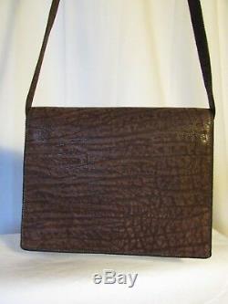 Authentique sac vintage CHRISTIAN DIOR cuir de suède marron marbré