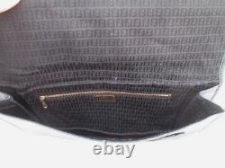 Authentique sublime rare sac à main pochette FENDI vintage en cuir bag