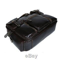 Bagage à main Valise de voyage de cru Sac en cuir véritable Sac Fourre-tout Neuf