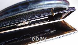 Belle vintage très rare peut être unique sac à main ancien Croco