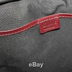 CÉLINE Nano Luggage Calfskin Sac à main en cuir Bourgogne, 8 X 3.75 X 7.5