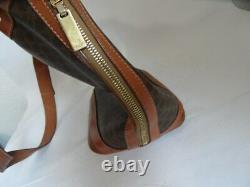 CELINE Sac a main Toile monogramme et cuir Vintage (10546)