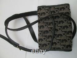 - CHRISTIAN DIOR petit sac à main bandoulière toile/cuir TBEG bag