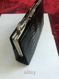 Cartier Pochette Sac à Main. Crocodile Veritable. Modèle Panthère. Vintage