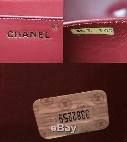 Chanel Matelasse Cosmétiques Sac à Main Email Noir de France