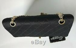 Chanel Sac A Main Timeless Classic 2.55 Jersey Et Cuir Karl Lagerfeld