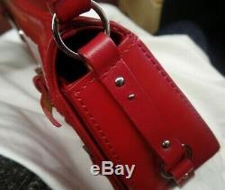 Christian Dior Femmes Sac à Main Rouge Cuir Verni tbe