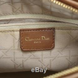 Christian Dior à Main Toto Sac Cuir Brun France Vintage Authentique #