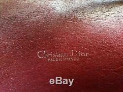 Dior Sac à main porté épaule cuir et monogramme DIOR -1ère Edition Vintage